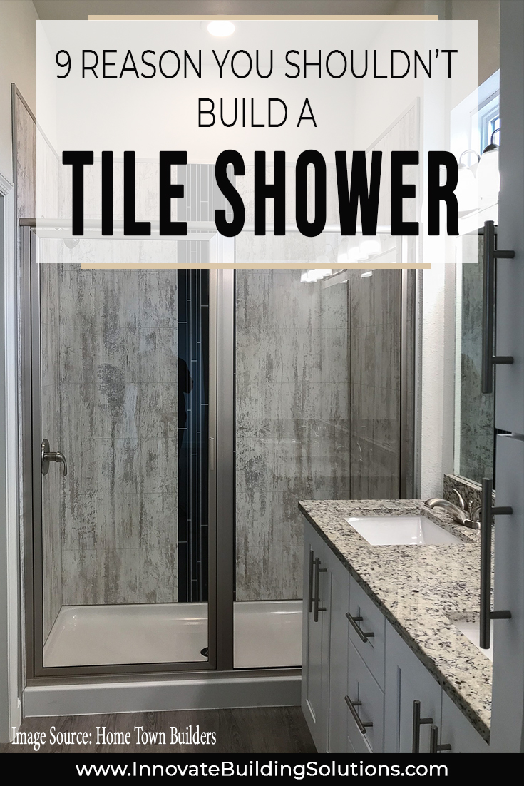 Opening - tiled shower | Innovate Building Solutions | #TileShower #GroutFreePanels #BathroomRemodel