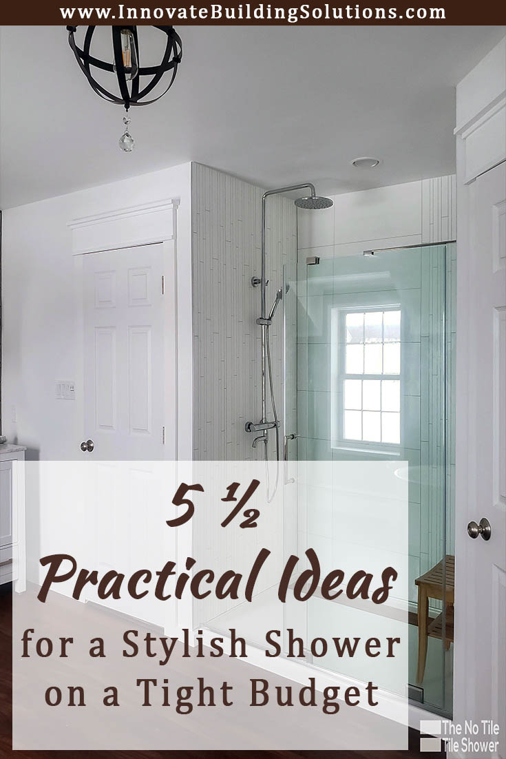 Practical ideas for a stylish shower on a tight budget | Innovate Building Solutions | #BathroomRemodel #ShowerDesign #BathroomDesign #StylishBathroom