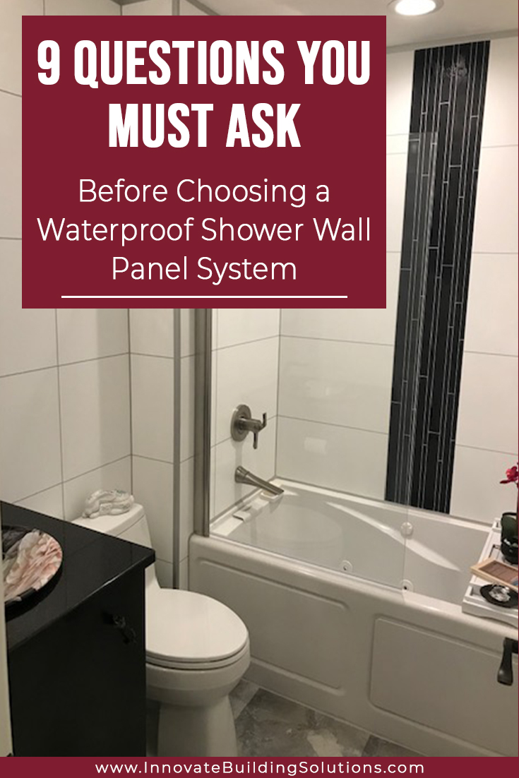 questions you must ask before choosing wall panel systems | Innovate Building Solutions | #WallPanels #BathroomRemodel #RemodelOnABudget
