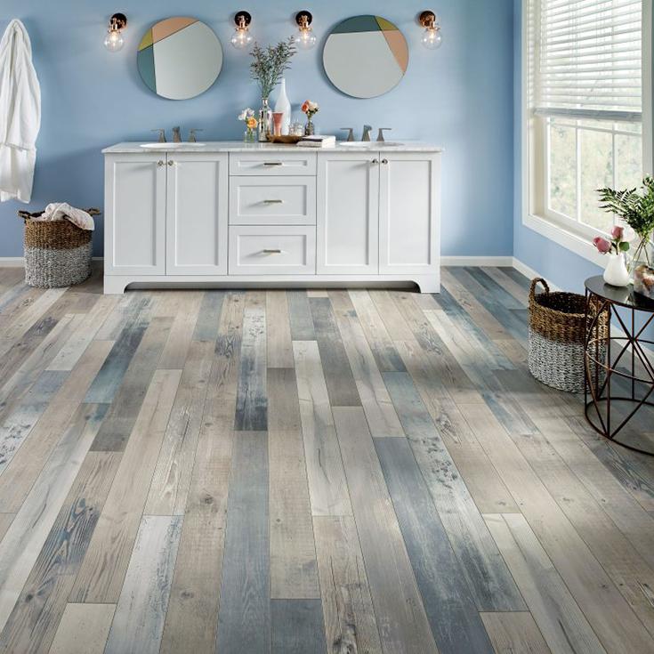 laminate bathroom flooring credit Armstrong Flooring | Innovate Building Solutions | #laminateflooring #bathroomFloor #BathroomRemodeling