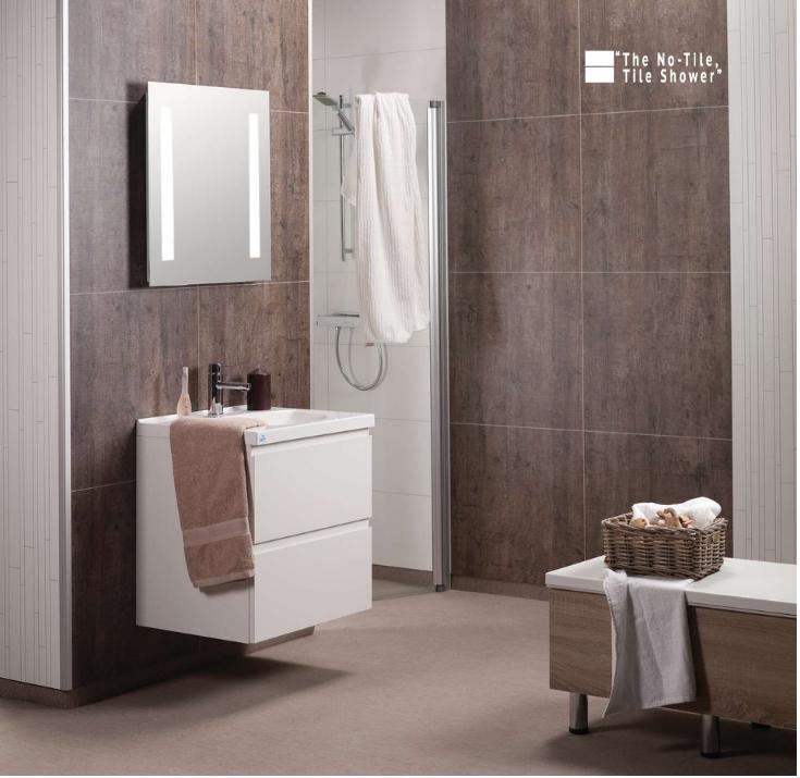 waterproof laminate shower wall panels | Innovate Building Solutions | #WaterproofPanels #Laminatewallpanels #Wallpanels #GroutFreePanels