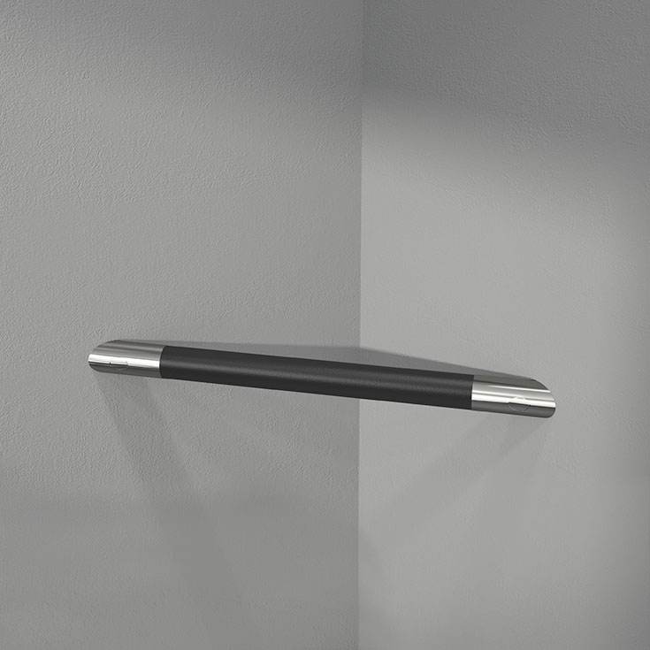 corner footrest | Innovate Building Solutions | #CornerHandle #CornerShelf #BathroomHandle