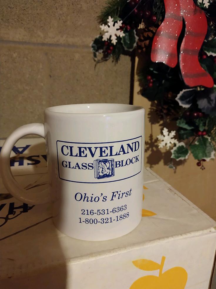 Cleveland Glass Block coffee mug | innovate Building solutions | #ClevelandGlassBlock #GlassBlock #StartUpBusiness