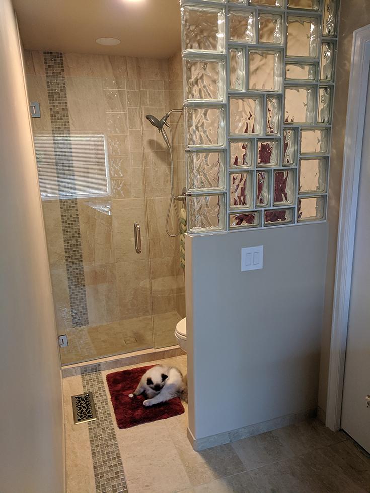Funky designer separator wall | Innovate Building Solutions | #WallSeparator #ToiletWall #GlassBlockWall