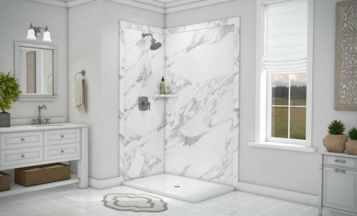 Decorative PVC walls vs. acrylic shower wall panels | Innovate Building Solutions | #PVCPanels #ShowerSystem #BathroomPanels