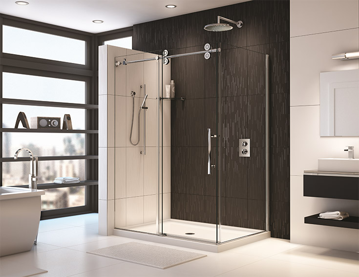 Contemporary reinforced acrylic shower pans   Innovate Building Solutions   #ReinforcedAcrylic #ShowerPan #ContemporaryShowerPan