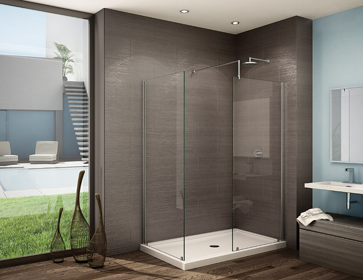 walk in shower | Innovate Building Solutions | #Walkinshower #Shower #GlassDoor #Glass