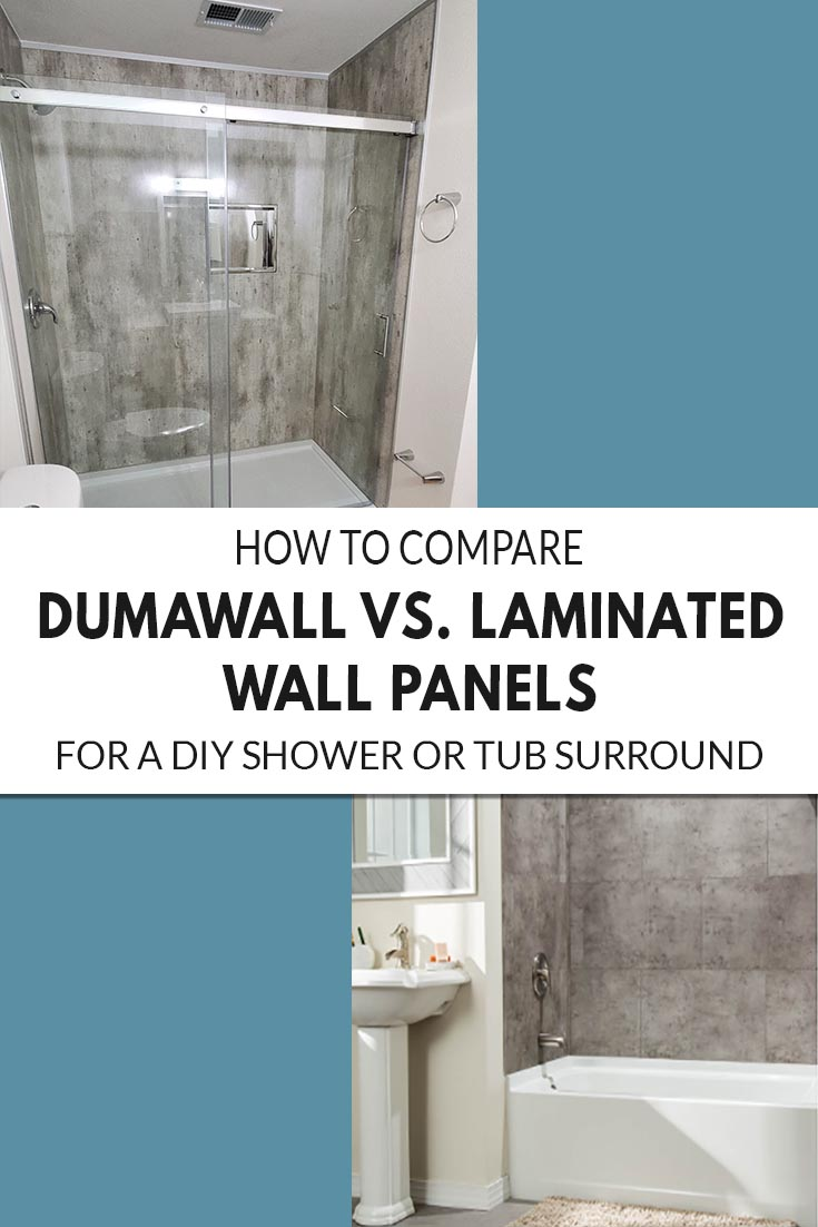 How to Compare Dumawall vs. Laminated Wall Panels for a DIY Shower or Tub Surround