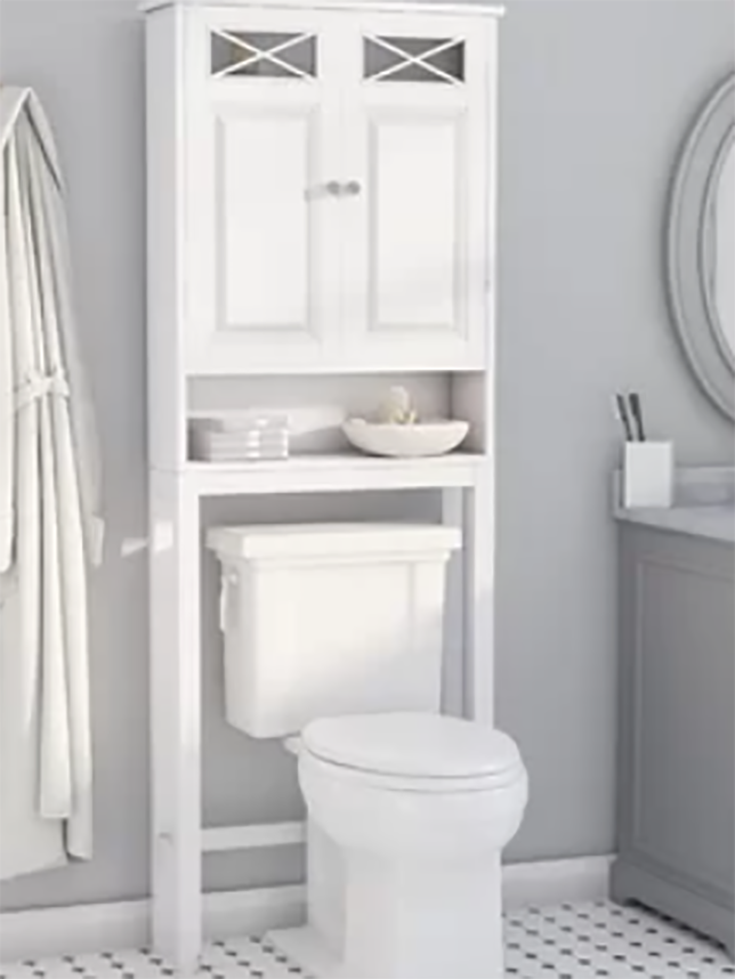Small bathroom idea 8 over the toilet storage cabinet credit www.wayfair.com | Innovate Building Solutions | #Toilet #Storage #BathroomRemodel #SmallBathroom