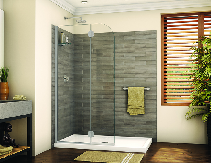 Smart bathroom idea 1 shower screen in a modern bathrom walkin shower | Innovate Building Solutions | #BathroomRemodel #ShowerRemodel #ModernBathroom