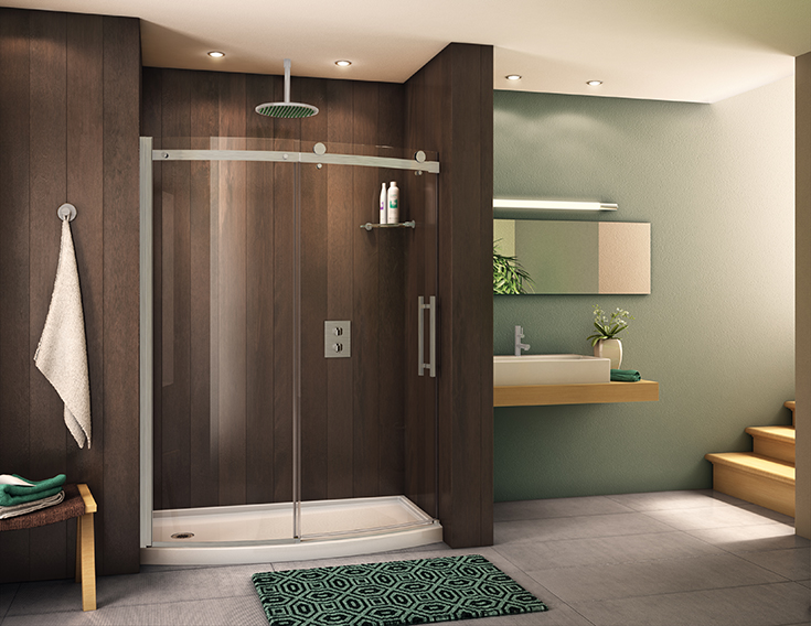 FAQ 10 curved sliding glass shower doors for a bathtub to shower conversion | Innovate Building Solutions | #ShowerConversion #BathroomRemodel #GlassDoor