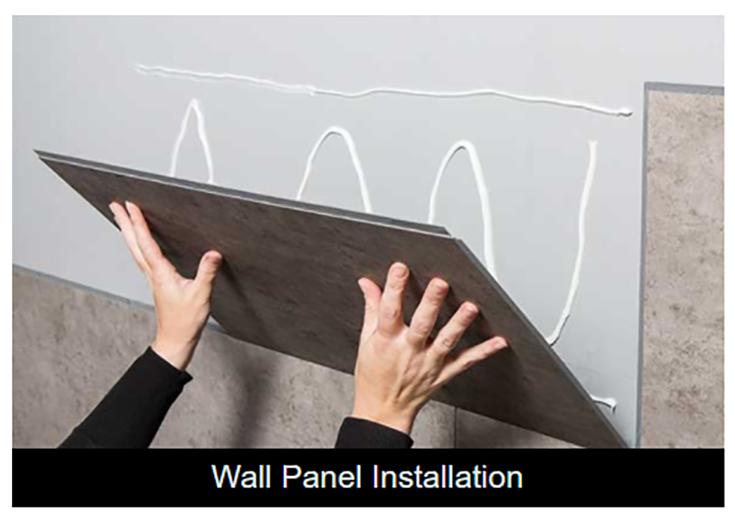 Alternative 6 vinyl Dumawall panels being installed www.dumawall.com | Innovate Building Solutions | #Dumawall #Showerwall #ShowerPanels #BathroomShower