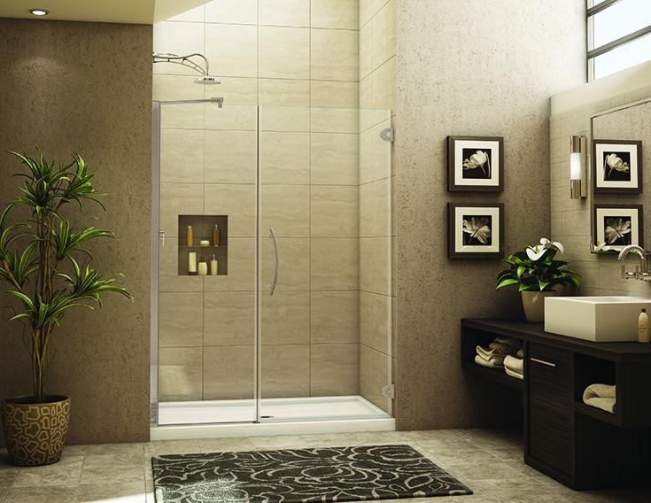 Advantage 1 pivoting - pivoting in line glass shower door | #GlassDoor #SlidingDoor #pivotingdoor