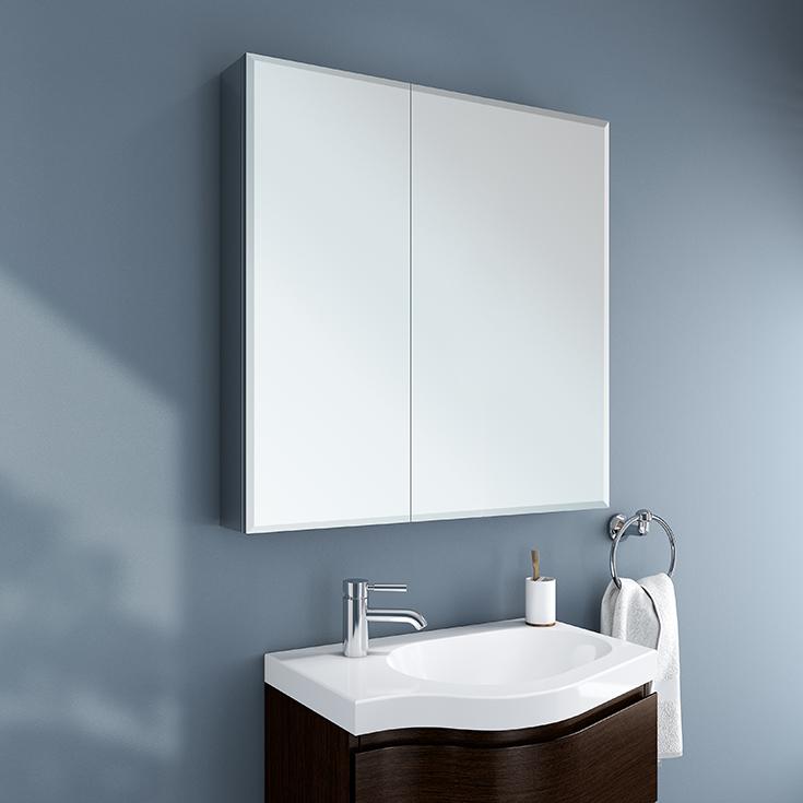 Mistake 4 idea 1 mirrored medicine cabinet Innovate Building Solutions #MedicineCabninet #BathroomRemodel #Mirror