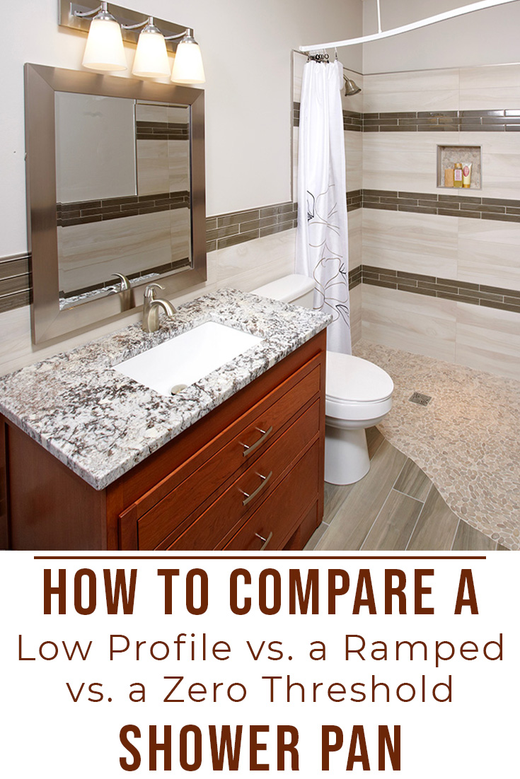 How to Compare a Low Profile vs. a Ramped vs. a Zero Threshold Shower Pan