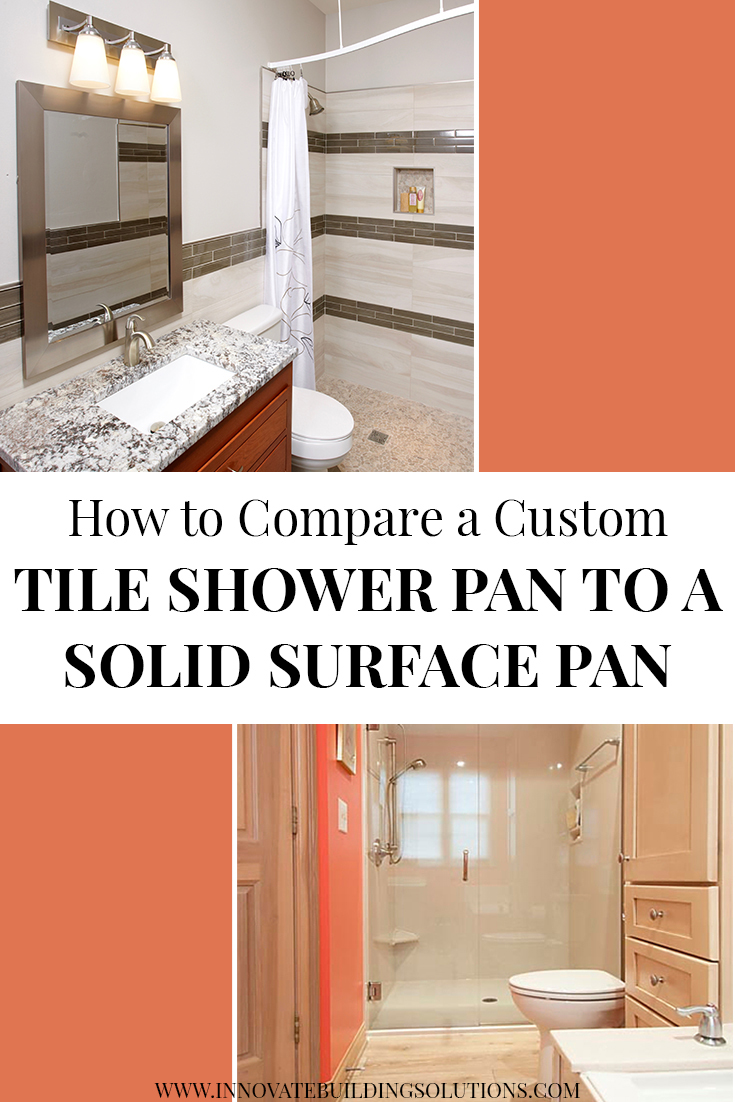 Section 3 - How to compare a custom tile shower pan to a solid surface base   Innovate Building Solutions #ShowerRemodel #CustomTile #CurblessShower