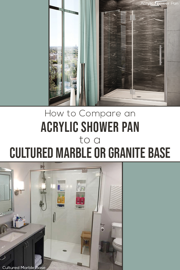 Section 3 How to compare an acrylic shower pan to a cultured marble base   Innovate Building Solutions #ShowerBase #AcyrlicShower #MarbleBase