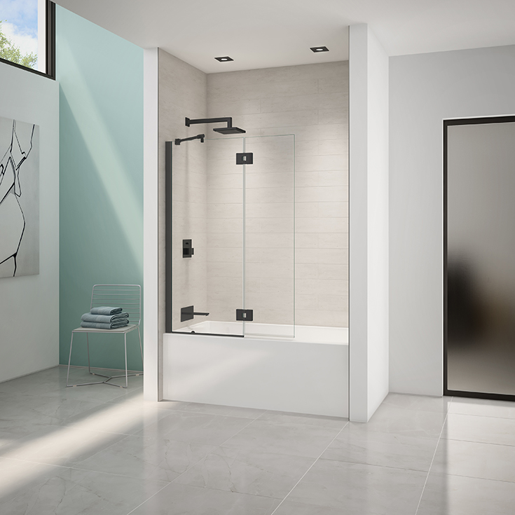 Question 9 thick square top tub shield in a bathtub replacement Cleveland #Bathroomremodel #Glassdoor #ShowerDoor